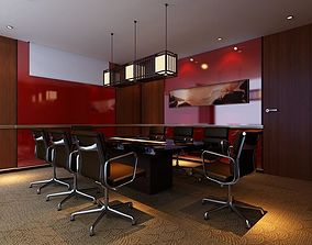 A fashionable and simple style conference room office 3D