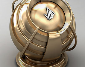 VRAY SHADER---METAL---Bronze Zamak 3D model