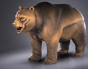 Wallstreet Bear Sculpture 3D