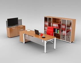 Sleek Office Furniture Set 3D model