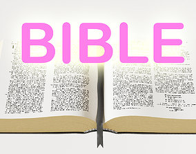 bible books holy 3d model realtime