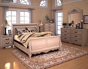 3d Asset Ashley Doll House Sleigh Bedroom Set Cgtrader
