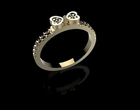 Ring Bow with stones 3DM STL