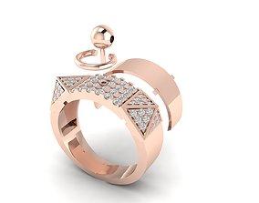 3D print model Hermes collier de chien diamond ring