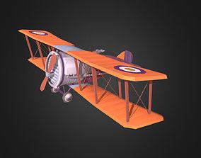 Stylized WWI airplane 3D model