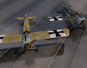 Fokker E-I and E-III Eindecker 3D model