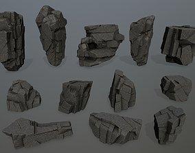 cliff rocks mount 3D model VR / AR ready