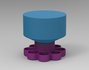 Water Feeder for new born quail and 3D printable model 3