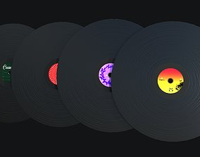 Phonograph Records PBR Game Ready 3D model