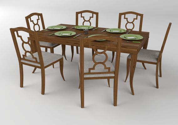 Furniture set V-Ray for SketchUp renders