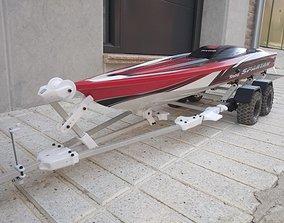 Boat Trailer for crawler or RC car 3D print model