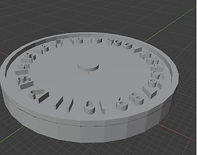 3D printable model Noir Angels 0-20 Wound Tracker