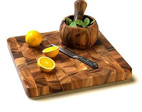 3D Wooden Pieced Cutting Board