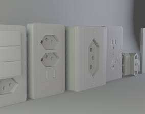3D 6 wall outlets