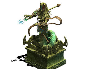 3D Seabed - dragon statue
