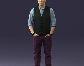Man in a shirt and vest 0203 3D model
