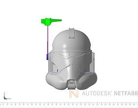 3D printable model Commander Wolffe Helmet Star Wars The 1