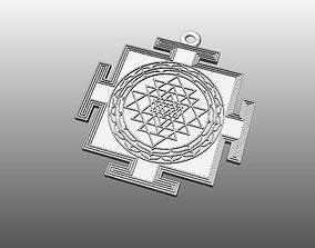 Pendant Sri Yantra 3D printable model