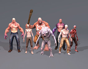 3D model animated Characters Creatures Pack
