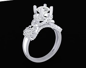 1492 Luxury Diamond Ring for women 3D print model