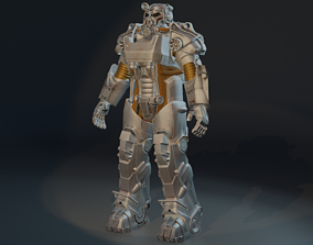 Power Armor T-60b Armor from Fallout 3D printable model