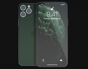 Phone 11 Pro Max Dark Night Green-C4D Modeling