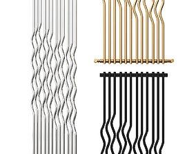 3D model RIO Glossy steel decorative radiator by 1