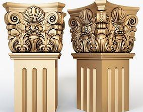 3D Classical Column for cnc