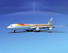 3D model Airbus A340-600 Iberia
