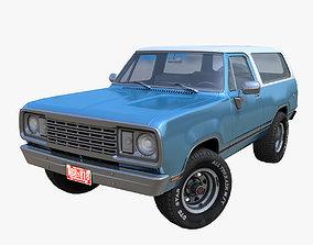 3D asset American generic offroad car