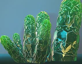 3D asset Minerals Green game-ready