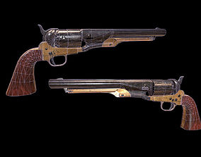 3D asset PIETTA HAND GUN - Colt 44 1869