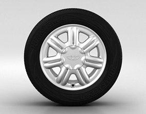 3D Daewoo Nexia Wheel 14 inch 003