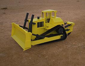 3D Trator Esteira 01