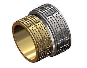 Double row Meandre Greek key pattern 3D printable model