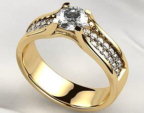 5mm Gemstone Gold Ring 3D print model