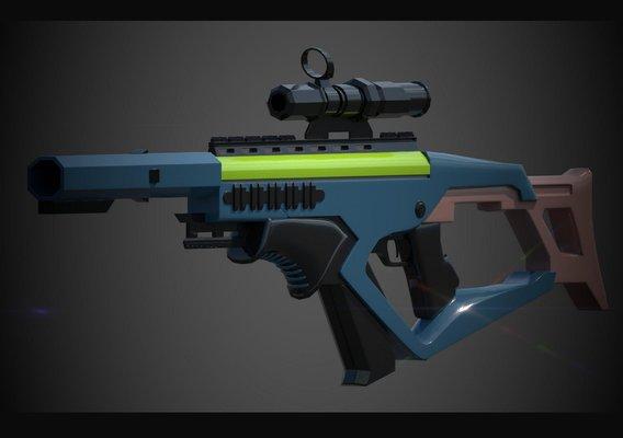 Scifi Gun Lowpoly