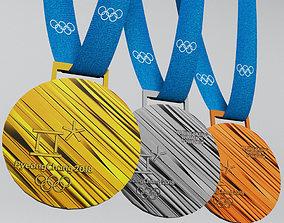 3D asset Pyeongchang 2018 olympic medal low