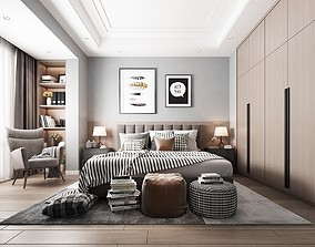 chair 3D model BEDROOM DESIGN