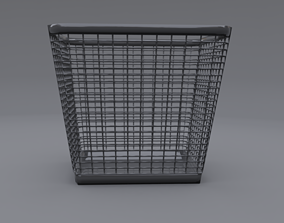 3D model trash can 3