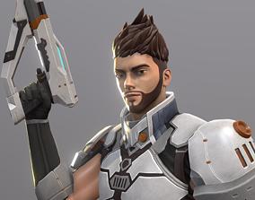 3D model Hero Character