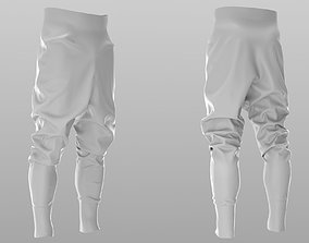 3D model Puffer Pants - Trousers