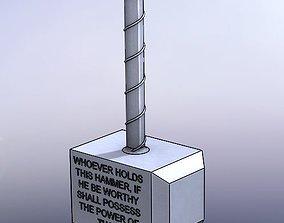 Hammer of Thor - Mjolnir 3D printable model