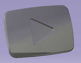 Youtube Button 3D printable model