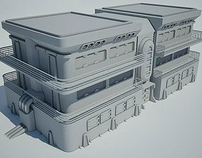 3D architectural Futuristic Sci Fi Building