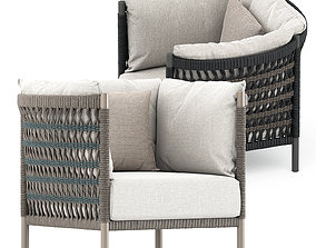 Anatra lounge chair by Janus et cie 3D model