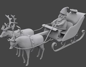 Santa sleigh 3D printable model