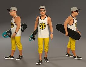 Skater Male ACC 2130 003 3D model
