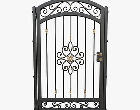 3D model Wrought iron gate 04