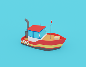 POLYGRUNT - Low Poly Boat or Water Craft or Sea 3D asset